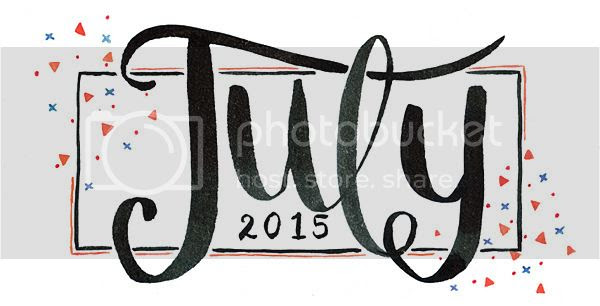 Happiness is... July 2015 Free Printable Calendar and Planner - hand lettering