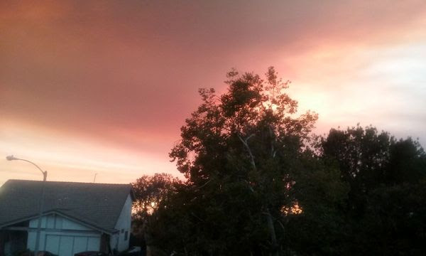 The cloud of smoke caused by the Sand Fire is an ominous sight to see from my house in West Covina...on July 22, 2016.