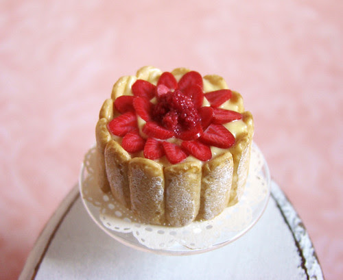 Miniature Food - Red Berries Charlotte Cake