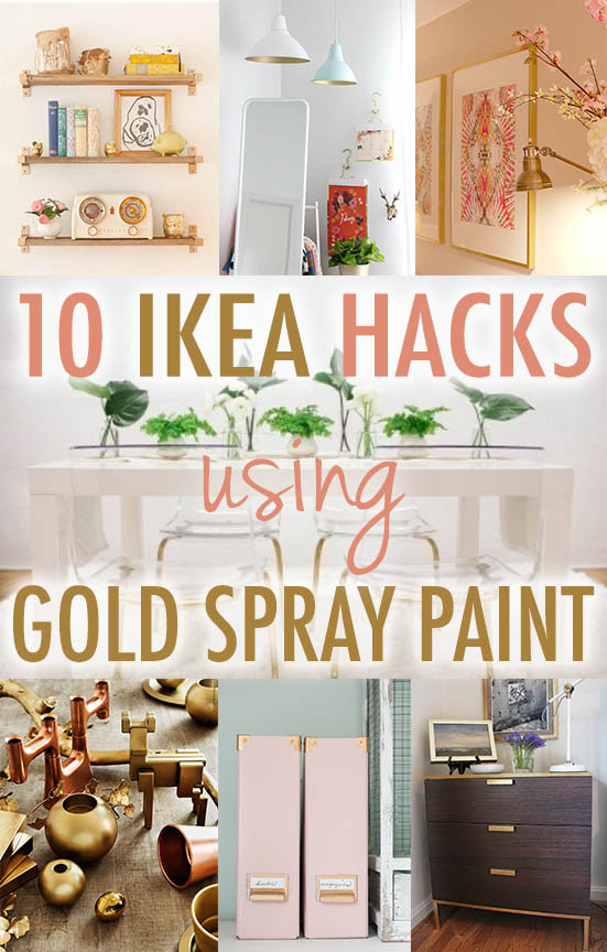 10 Times Gold Spray Paint Made Ikea Products Even Better Annabode