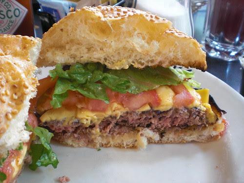 Burger cross section