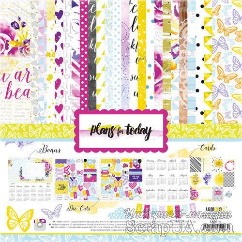 Набор бумаги и декора от Lemon Owl - Plans for Today, Kit - ScrapUA.com