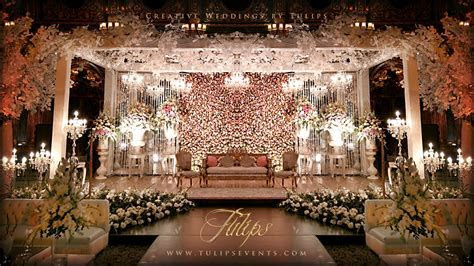 Tulips event   Best Pakistani wedding stage decoration