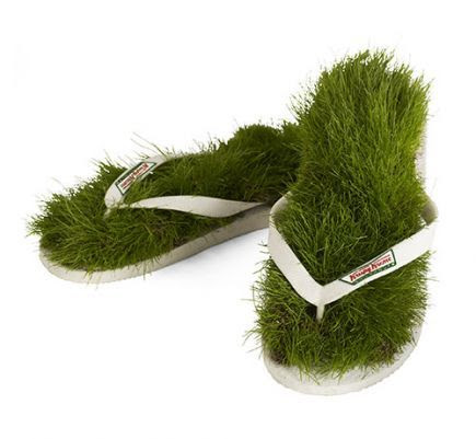 One shoemaker had the idea to make sandals that give the same sensation as you would get walking through fresh grass! They are called Grass Flip Flops and they are recommended for everyone who leads a stressful life and needs more contact with nature. These original and green shoes are made from 5,000 blades of grass. When you are not using them you have to put them in the sunlight and water them. If taken care of, these fun sandals can last for up to 4 months.