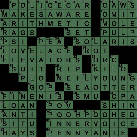 Film On Copper Crossword Puzzle Clue
