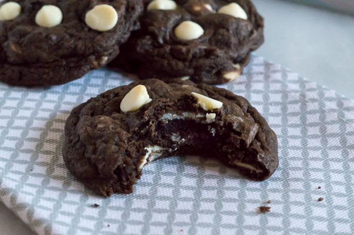 cookies and cream cookies with Oreos baked inside!