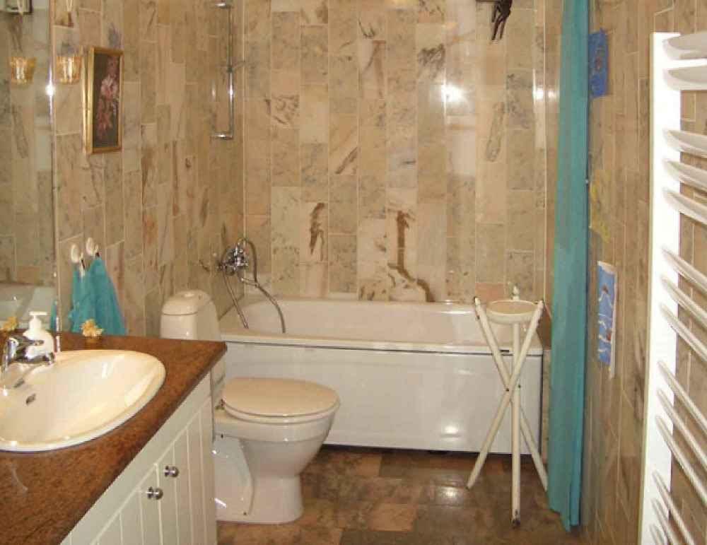 Brown  Bathroom  Tile  Beauty