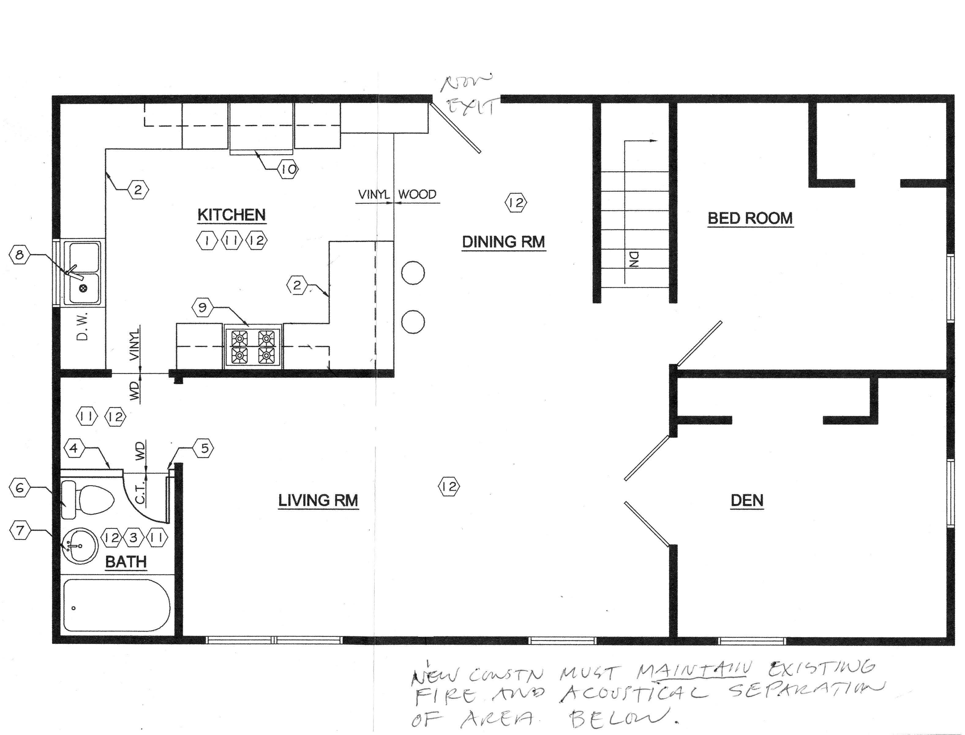 Floor Plan with Kitchen Sink