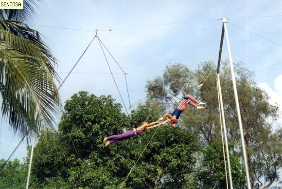 The Fun yet Challenging the Flying Trapeze Sentosa Island
