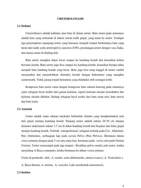 Ureterolitiasis 2.1 Definisi