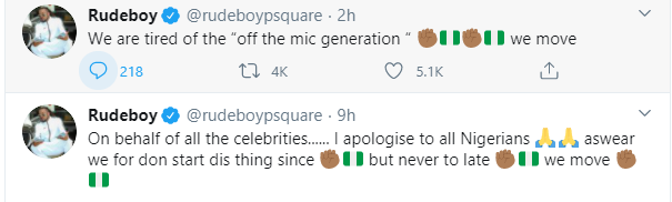 Paul Okoye 'Rudeboy' apologizes - Celebrities should have started the #EndSARS protest a long time ago