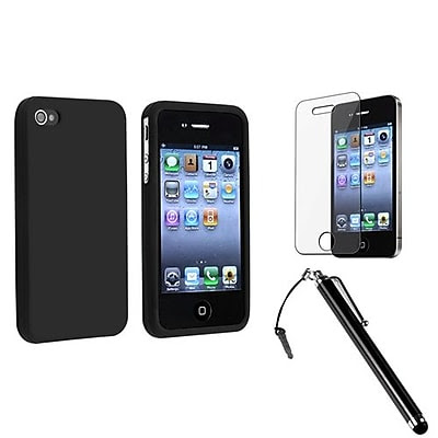 Insten 1171268 3-Piece iPhone Case Bundle For Apple iPhone 4/4S