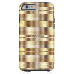 Pure Gold Stripes | Monogrammed Tough iPhone 6 Case