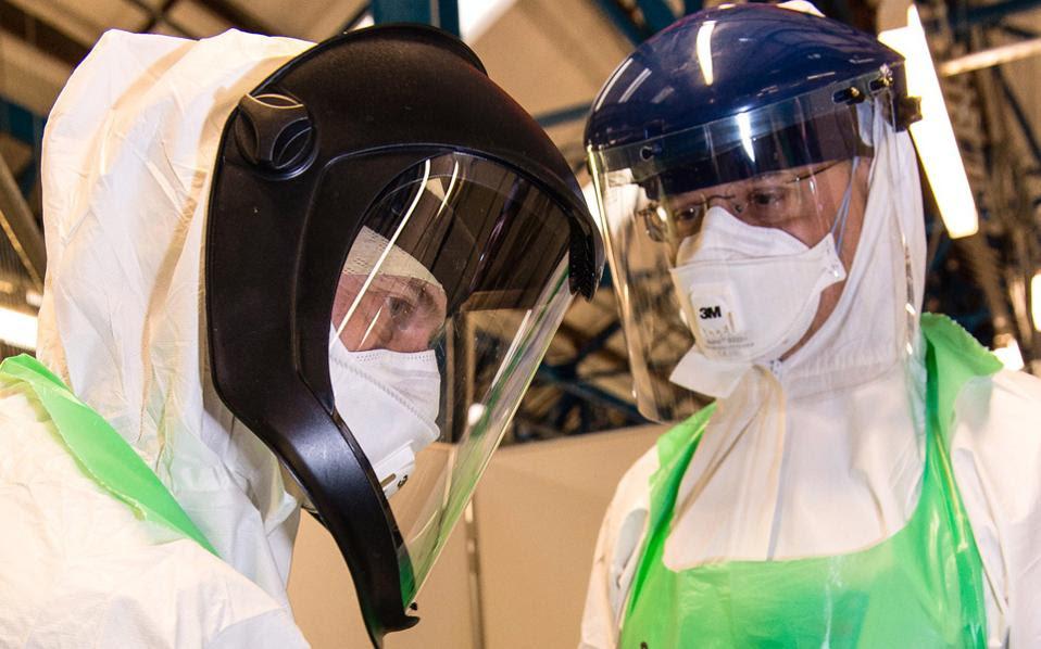 Ασκηση ετοιμότητας για τον ιό του Εμπολα πραγματοποίησε χθες ο βρετανικός στρατός στο Γιορκ της Βόρειας Αγγλίας.
