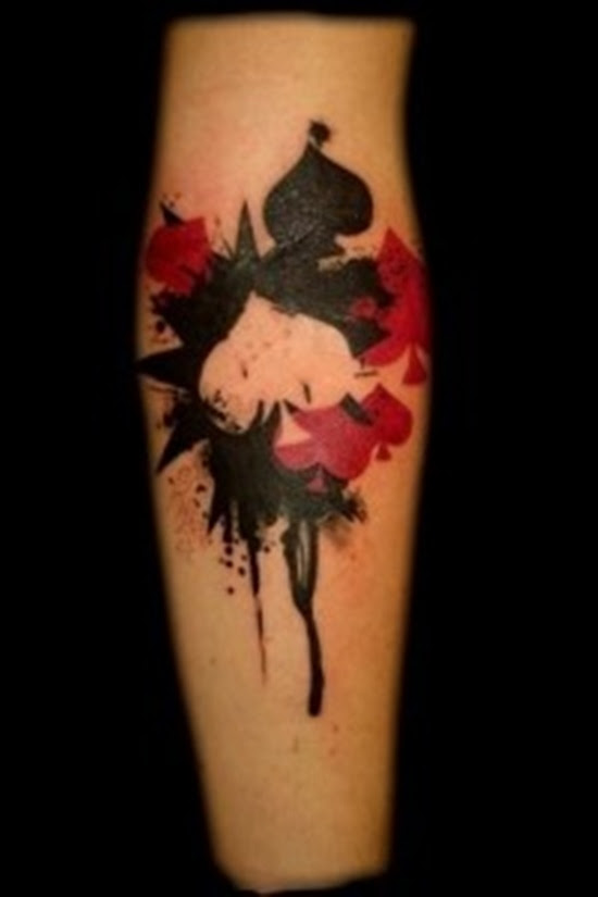 Black And Red Spade Tattoo Design Of Tattoosdesign Of Tattoos