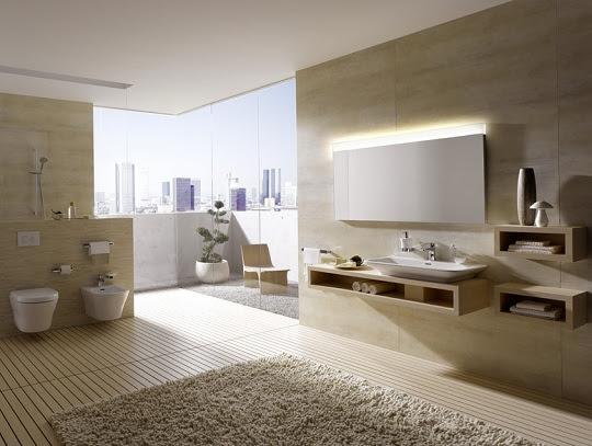Moderne Badezimmer mit minimalistischem Design von TOTO