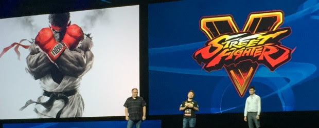 'Street Fighter V' foi confirmado durante abertura da PSX; Sony diz que novo game de luta será exclusivo do PS4 (Foto: Bruno Araujo/G1)