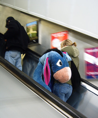 Eeyore on the Escalator