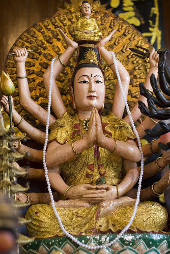 Sapan Hin Chinese Shrine - god with 16 arms