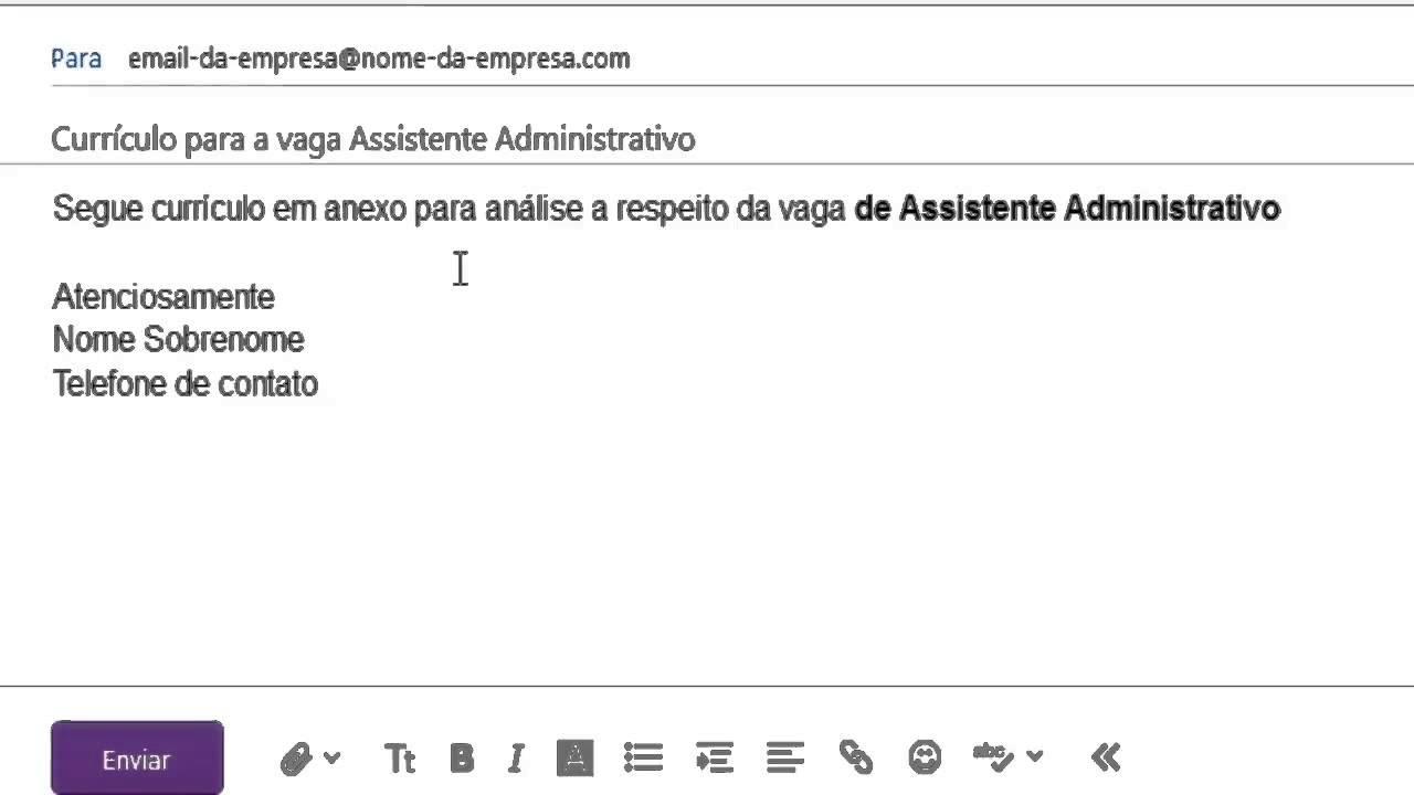 O Que Escrever No E Mail Ao Enviar O Currículo Dicas E Dica