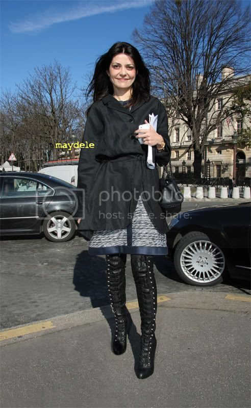 Filipa Fino wearing Christian Louboutin over-the-knee-boots
