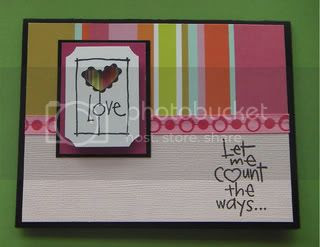 rubber stamped art,Valentine's Day card