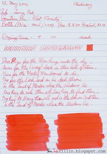 Lamy Red on Rhodia