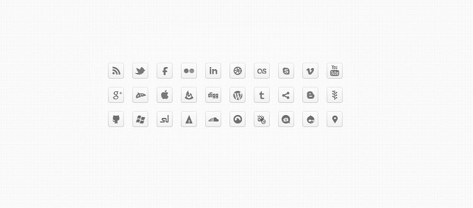 Mono DC – Black & White Monochrome Social Icons