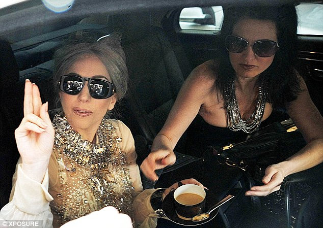 Singer Lady Gaga with former PA Jennifer O'Neill who claimed she was required to sleep in her bed each night