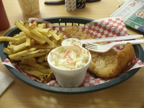 Fish Fry at the LUNCHBOX DELI in Oneonta, New York  2/1/13 by JuneNY