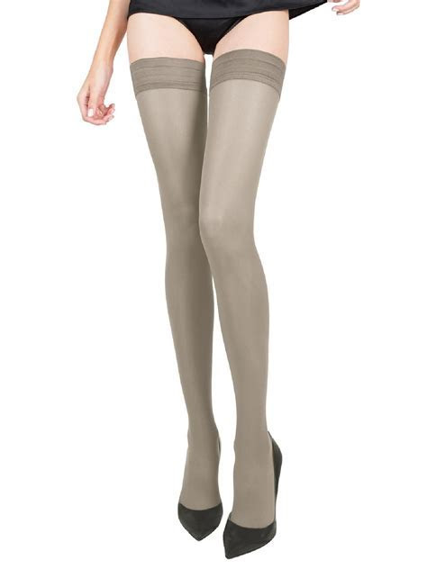 Thigh highs: Gray stockings   VienneMilano