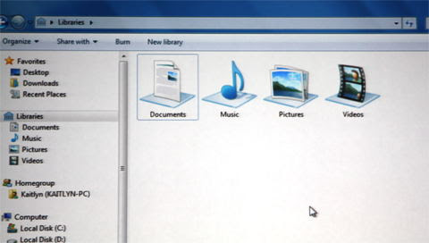 New Library based access in Windows 7