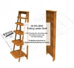 Folding Ladder Shelf Woodworking Plan - fee plans from WoodworkersWorkshop® Online Store - folding ladder shelves,shelving,shelfs,wood crafts,drawings,plans,woodworkers projects,workshop blueprints