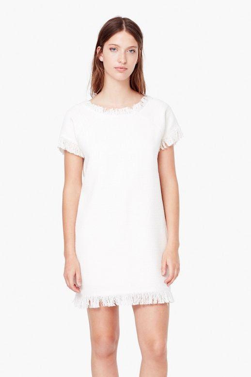 Le Fashion Blog Incredibly Stylish White Dresses With Frayed Hem Mango Textured Cotton Dress Vacation Summer Style