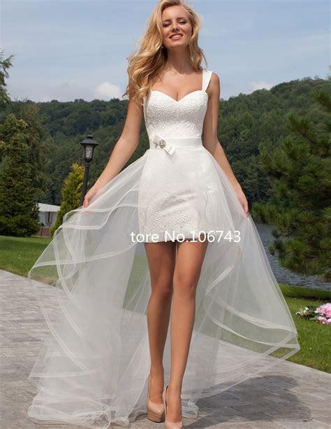 Summer 2017 Detachable Skirt And Sleeves Wedding Dress
