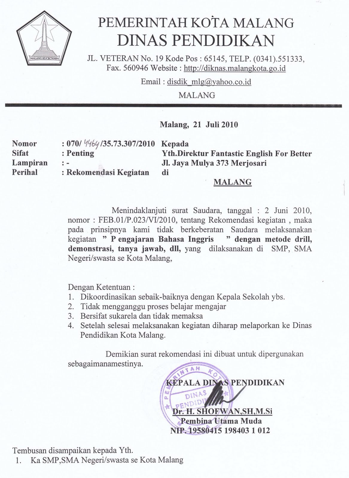 Contoh Surat Formal Invitation Letter Feed News Indonesia