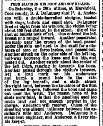 Alleged Intimacy Sunday Oregonian April 5 1885