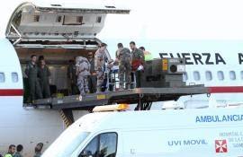 Repatriados a España los cinco heridos en Afganistán.