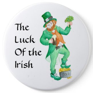 Large 'Luck of the Irish' Button button