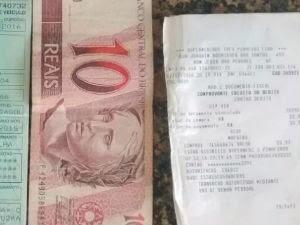 Idoso de 67 anos é detido após tentar subornar PM com R$ 10 em Bom Jesus dos Perdões (Foto: Divulgação/Polícia Militar)