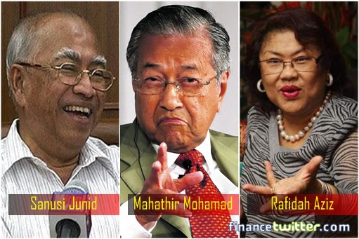Sanusi Junid and Mahathir Mohamad and Rafidah Aziz