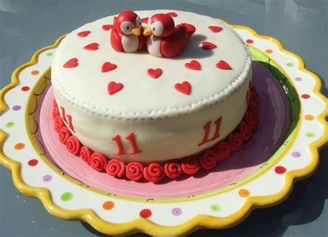 11Th Wedding Anniversary Cake   CakeCentral.com