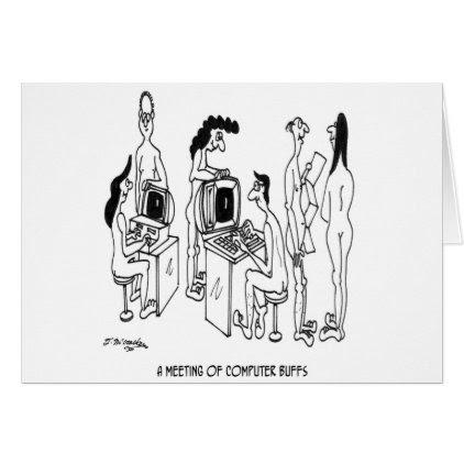 Computer Cartoon 4130 Card