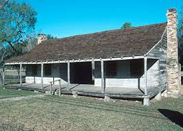 Horace Eggleston Log House (1846) in Gonzales, Texas