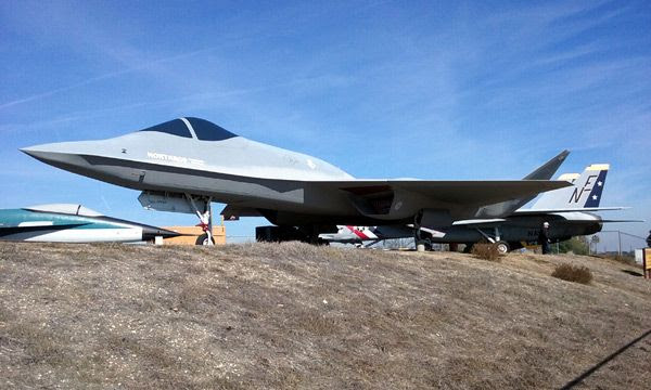 The YF-23 Gray Ghost on display at the Western Museum of Flight in Torrance, CA...on November 23, 2016.
