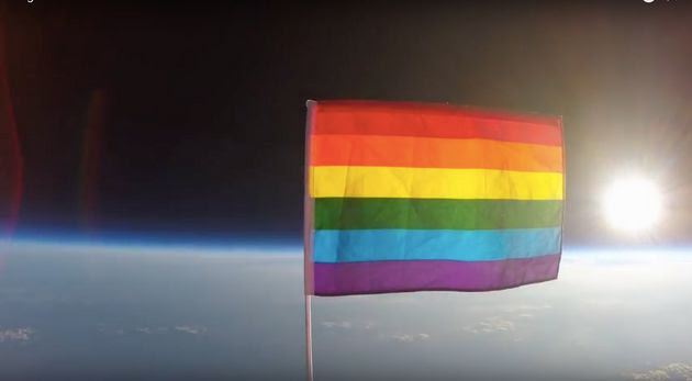 Space Declared 'LGBTQ Friendly' As Pride Flag Launched Above Stratosphere