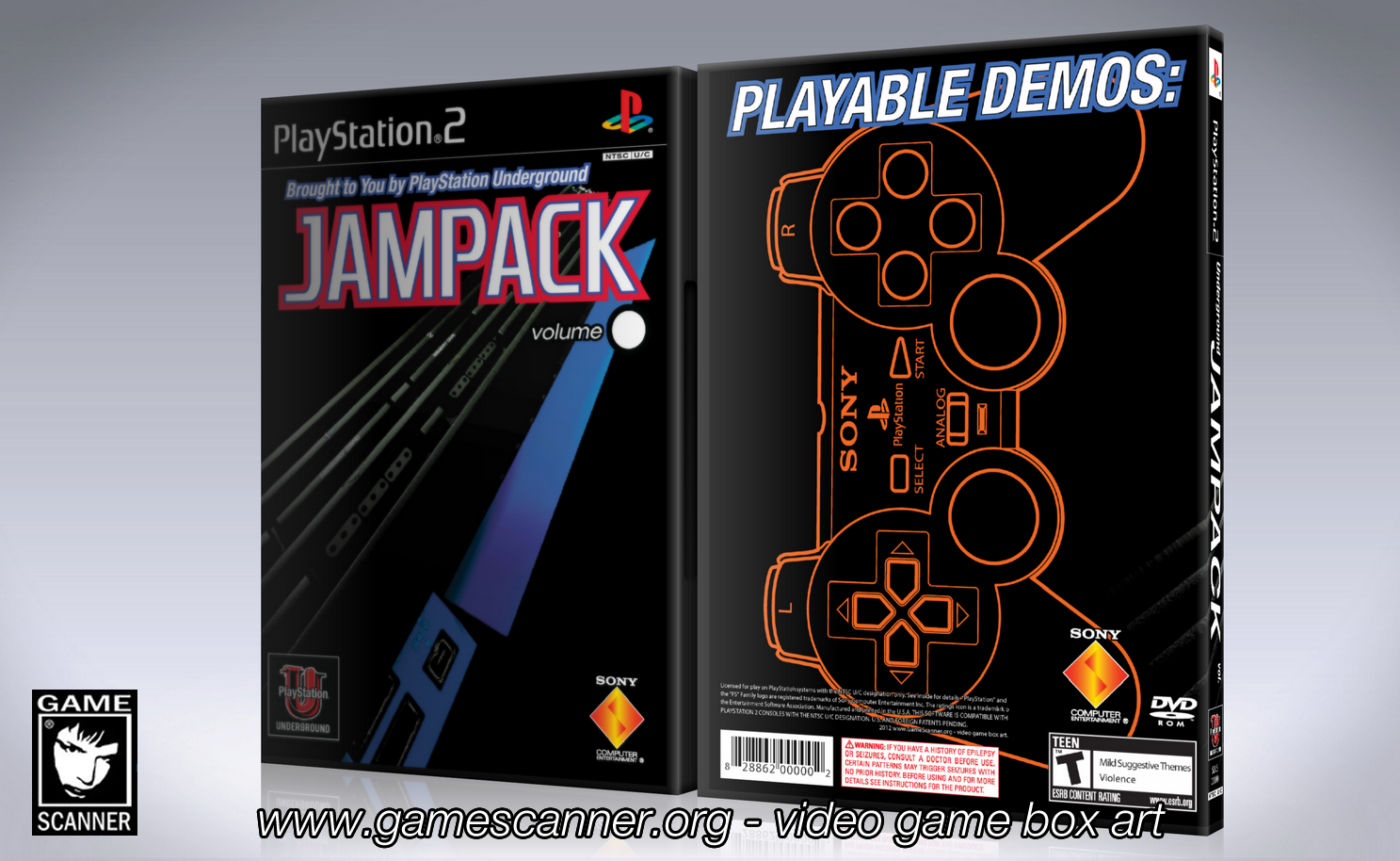 PlayStation JamPack template cover