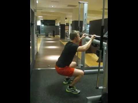 video  exercise description  supported squats