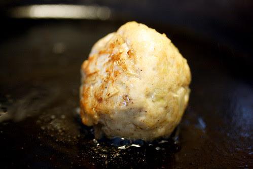 Turkey meatball sizzling