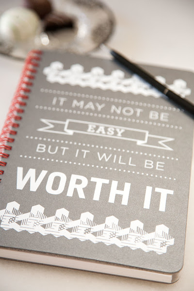 Choose a notebook with page style you like. Where you write and what you write on should make you happy.